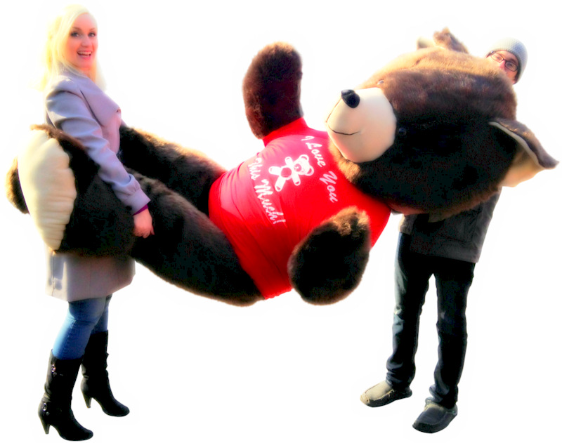 The biggest teddy bears in the world 8-feet tall are at BigPlush.com! Made in America!