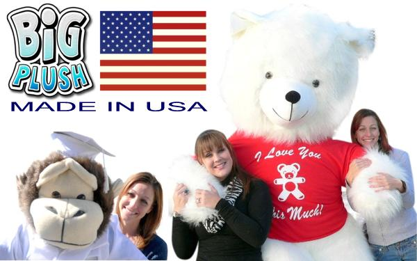 Buy American! 100% Genuinely Made in America Giant Stuffed Animals at BigPlush.com!