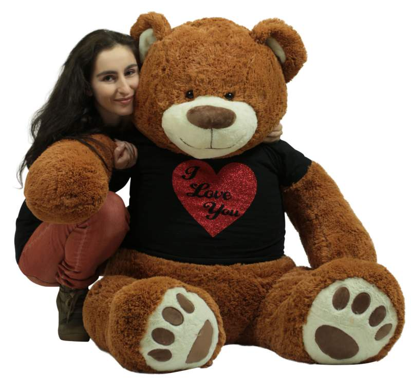 ed86841163aa This 5 foot Valentine's Day Teddy Bear and hundreds more big plush  Valentine Teddy Bears are