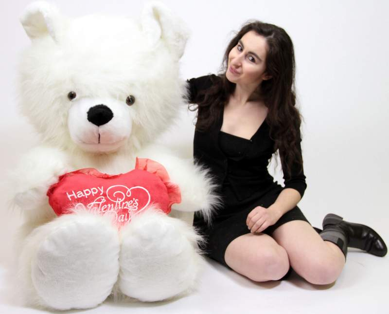 Giant Valentine's Day Teddy Bears Made in the USA at BigPlush.com