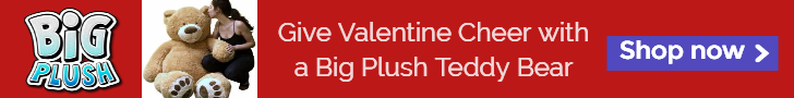 Shop All Valentines Day Giant Teddy Bears and Big Plush Animals here.